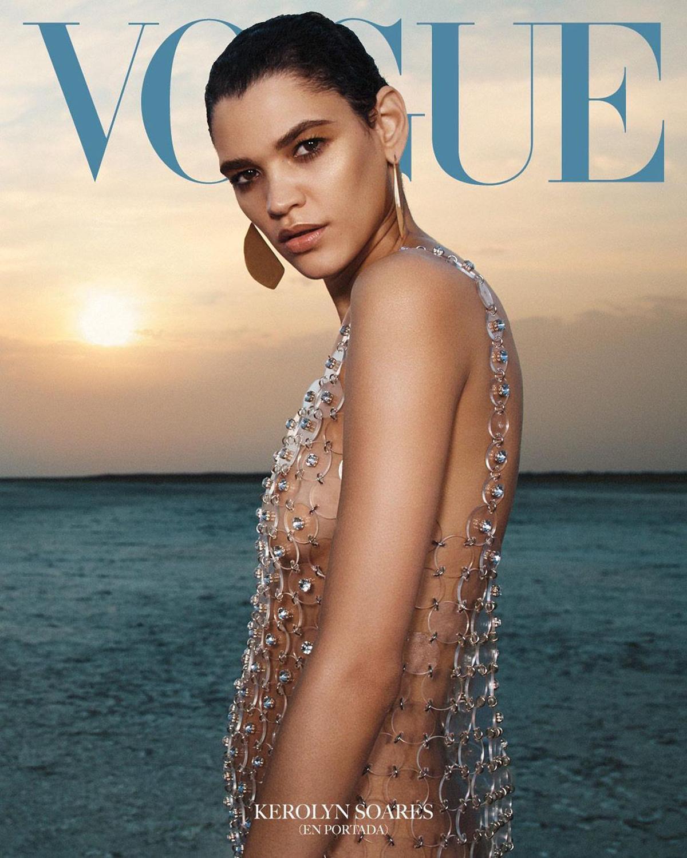Kerolyn Soares and Cynthia Arrebola cover Vogue Latin America September 2021 by Emma Summerton