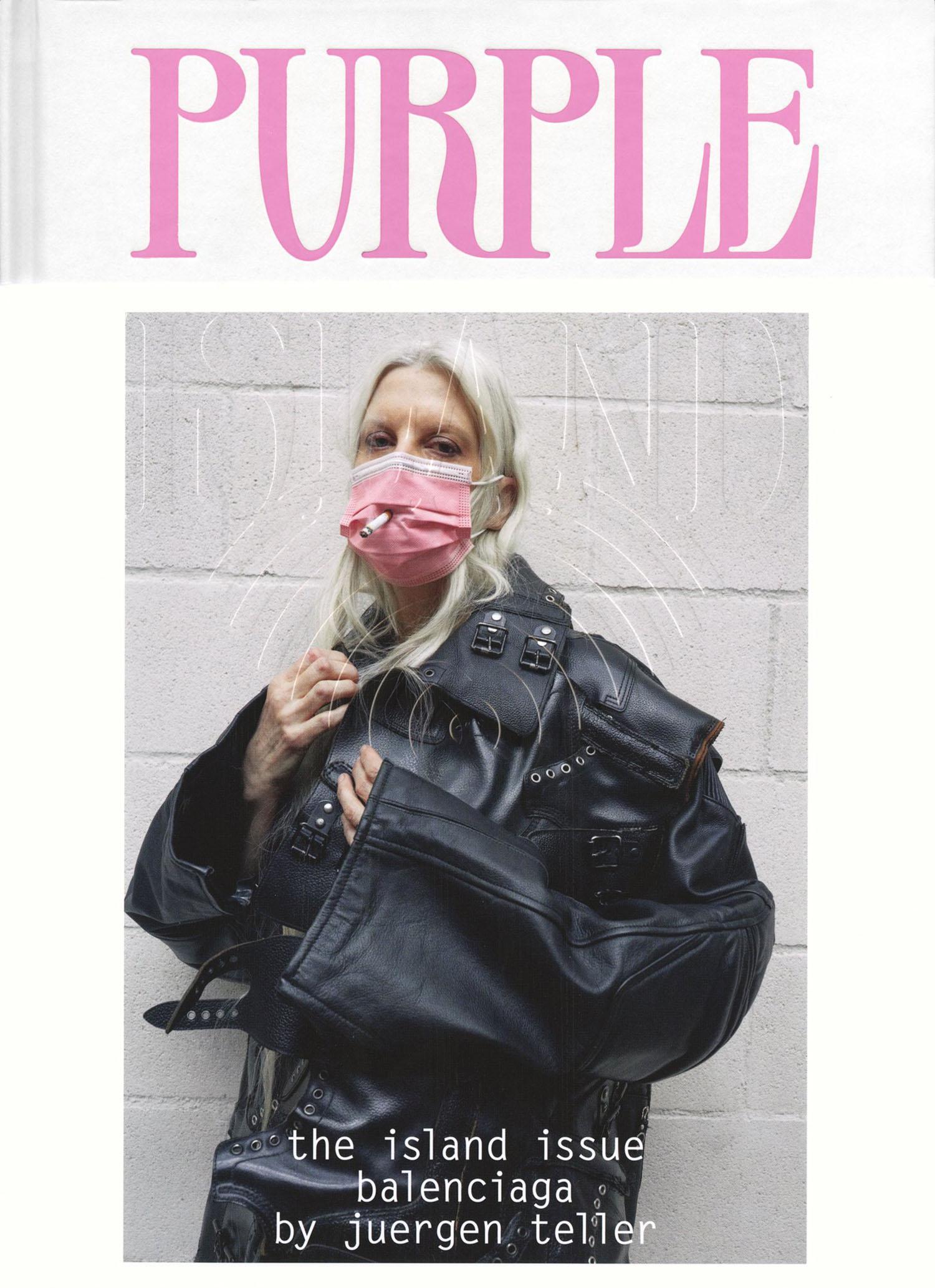 Kristen McMenamy covers Purple Issue 35 by Juergen Teller