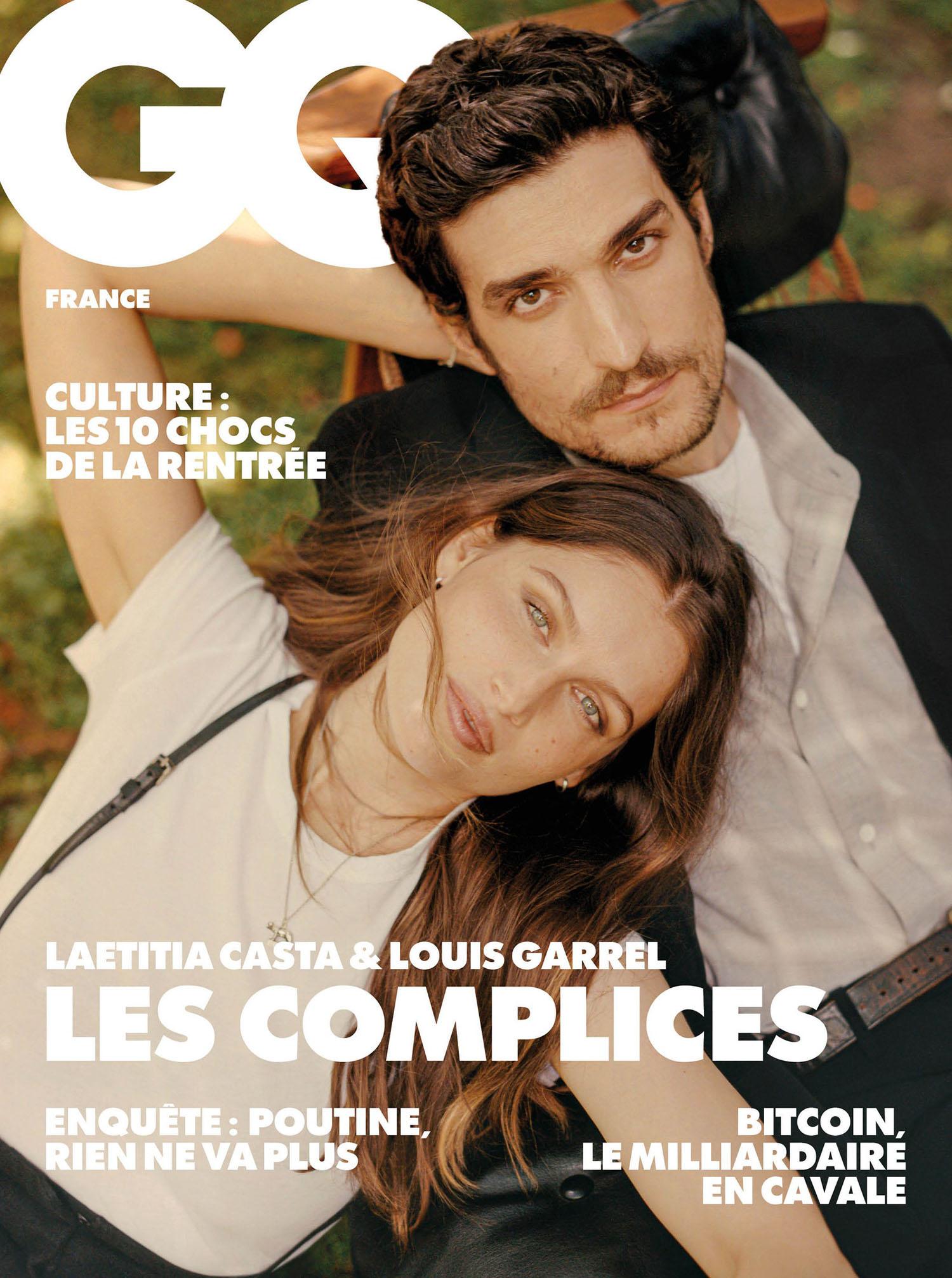 Laetitia Casta and Louis Garrel cover GQ France August 2021 by Quentin de Briey