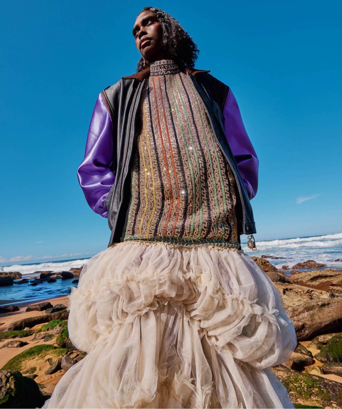Magnolia Maymuru covers Vogue Australia September 2021 by Charles Dennington