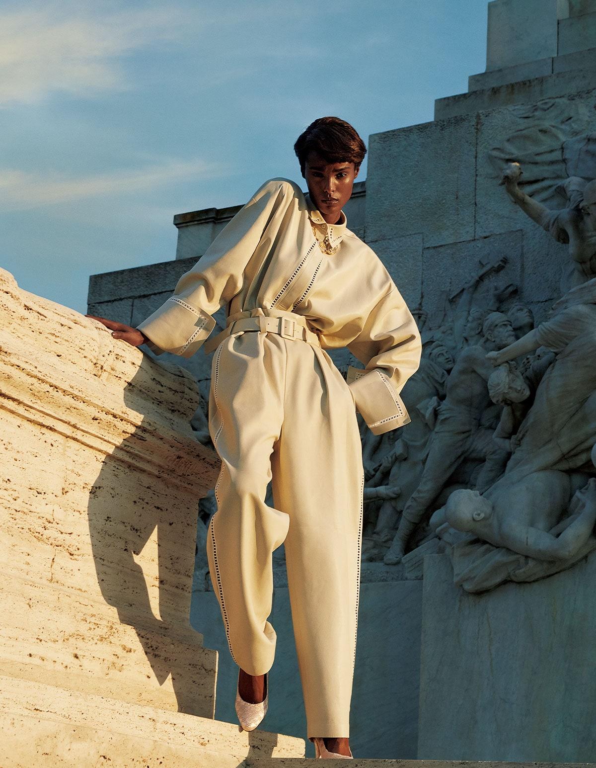 Malika Louback by Camilla Akrans for Vogue Japan September 2021