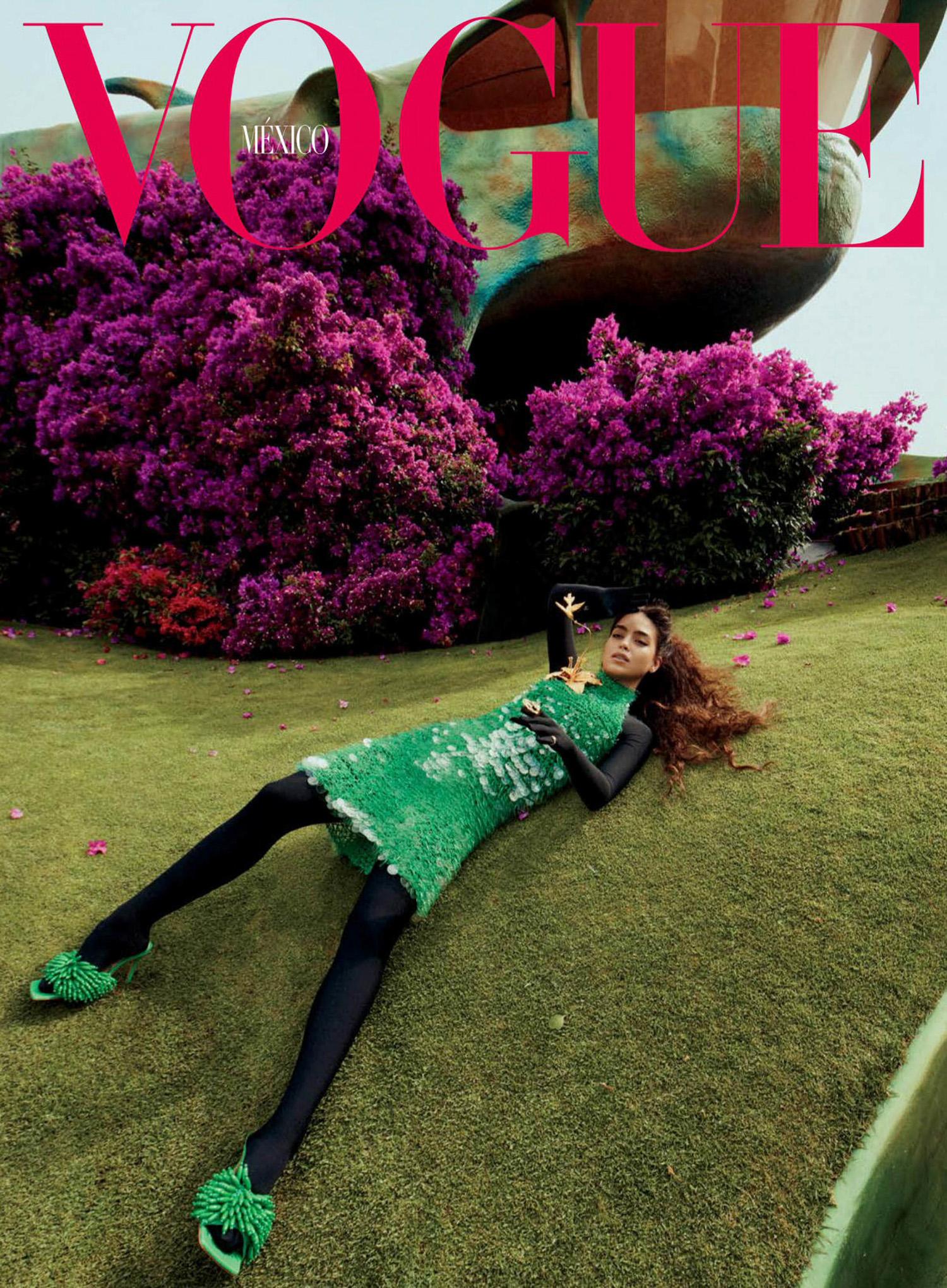 Melissa Barrera covers Vogue Mexico September 2021 by Emma Summerton