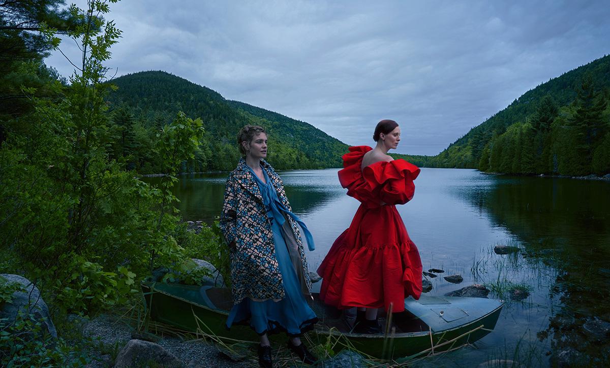 Natalia Vodianova, Karen Elson and Aldis Hodge by Annie Leibovitz for Vogue US September 2021