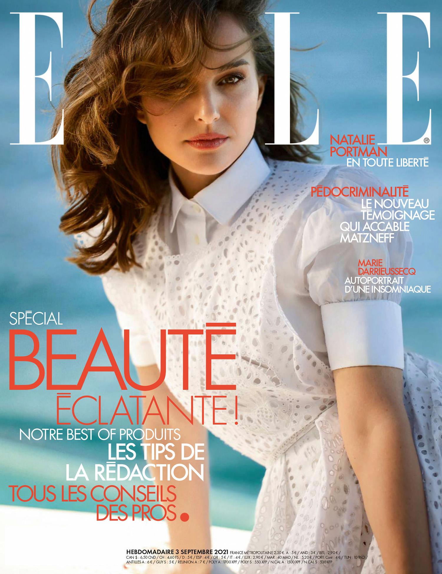 Natalie Portman covers Elle France September 3rd, 2021 by Jennifer Stenglein