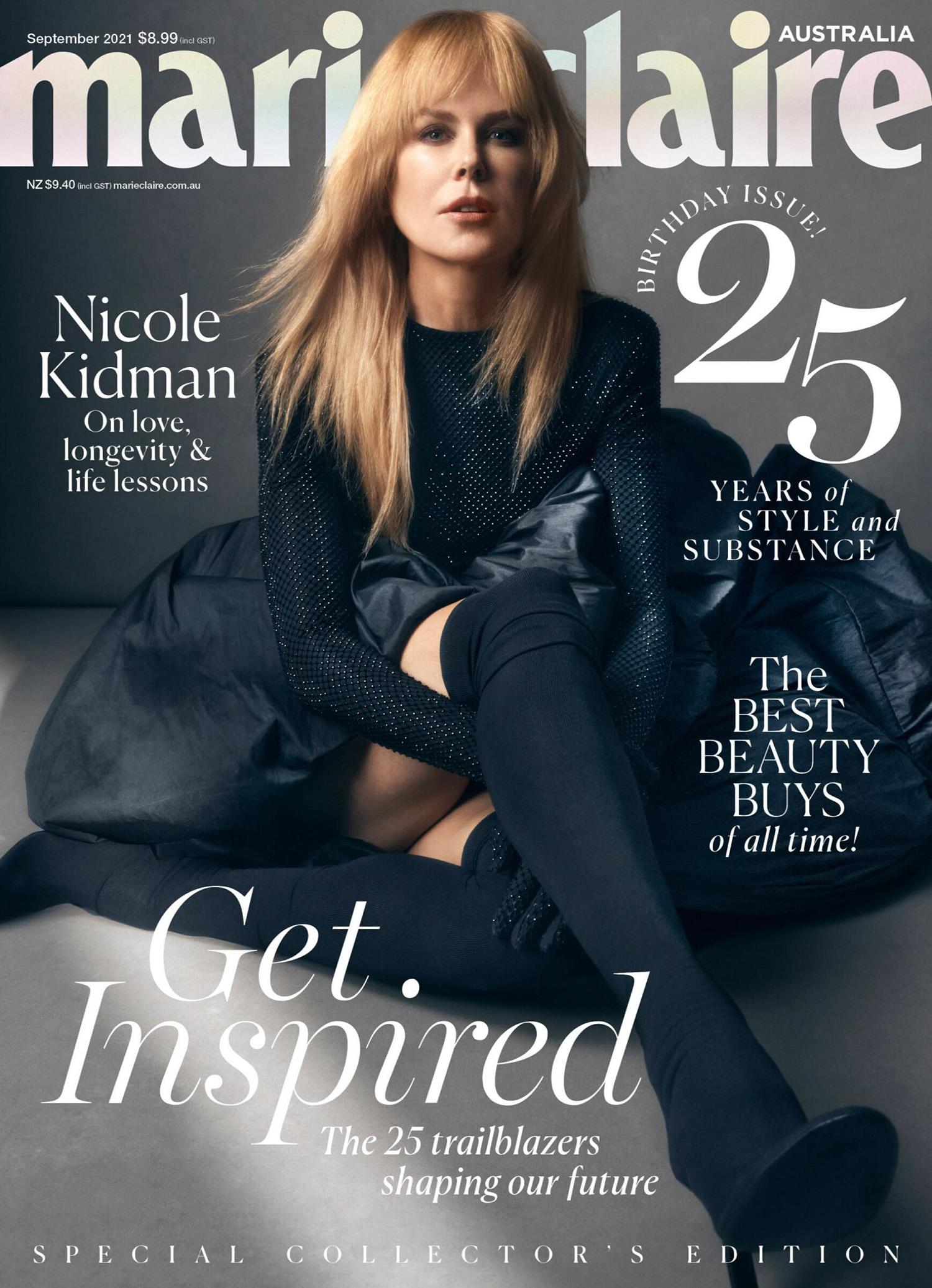 Nicole Kidman covers Marie Claire Australia September 2021 by Darren McDonald