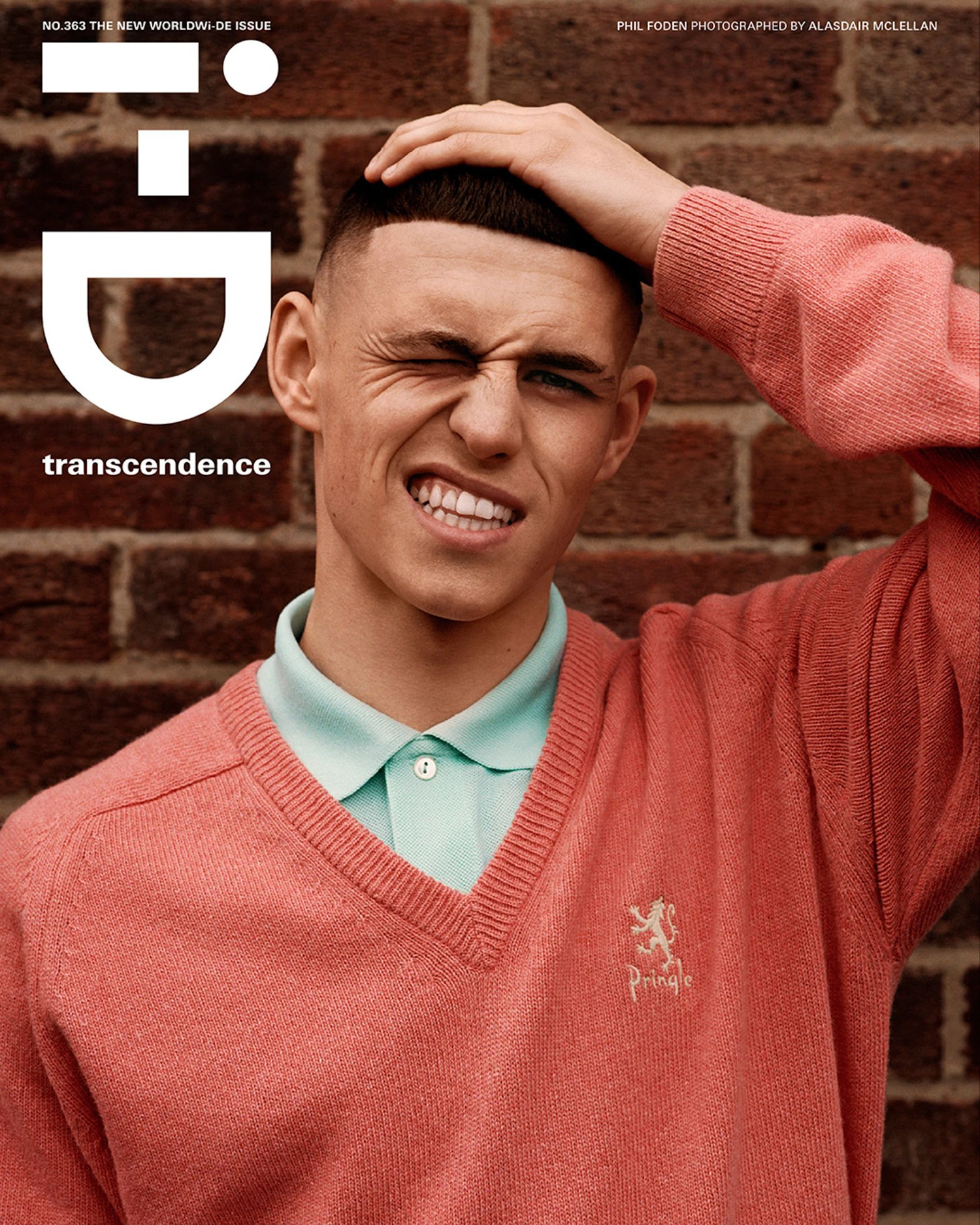 Phil Foden covers i-D Magazine Issue 363 by Alasdair McLellan