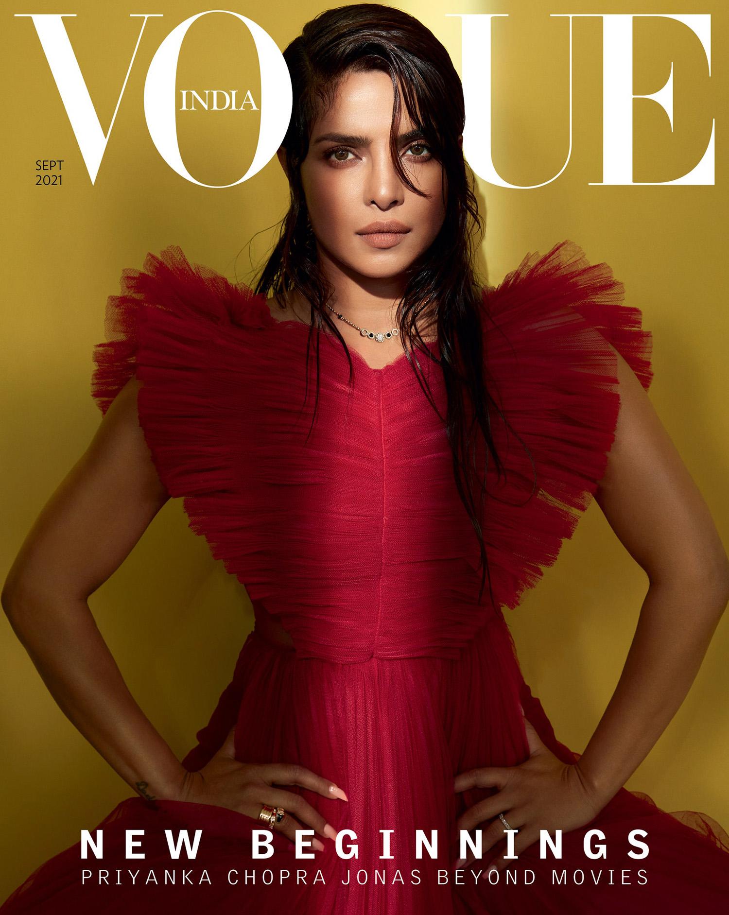 Priyanka Chopra covers Vogue India September 2021 by Sølve Sundsbø