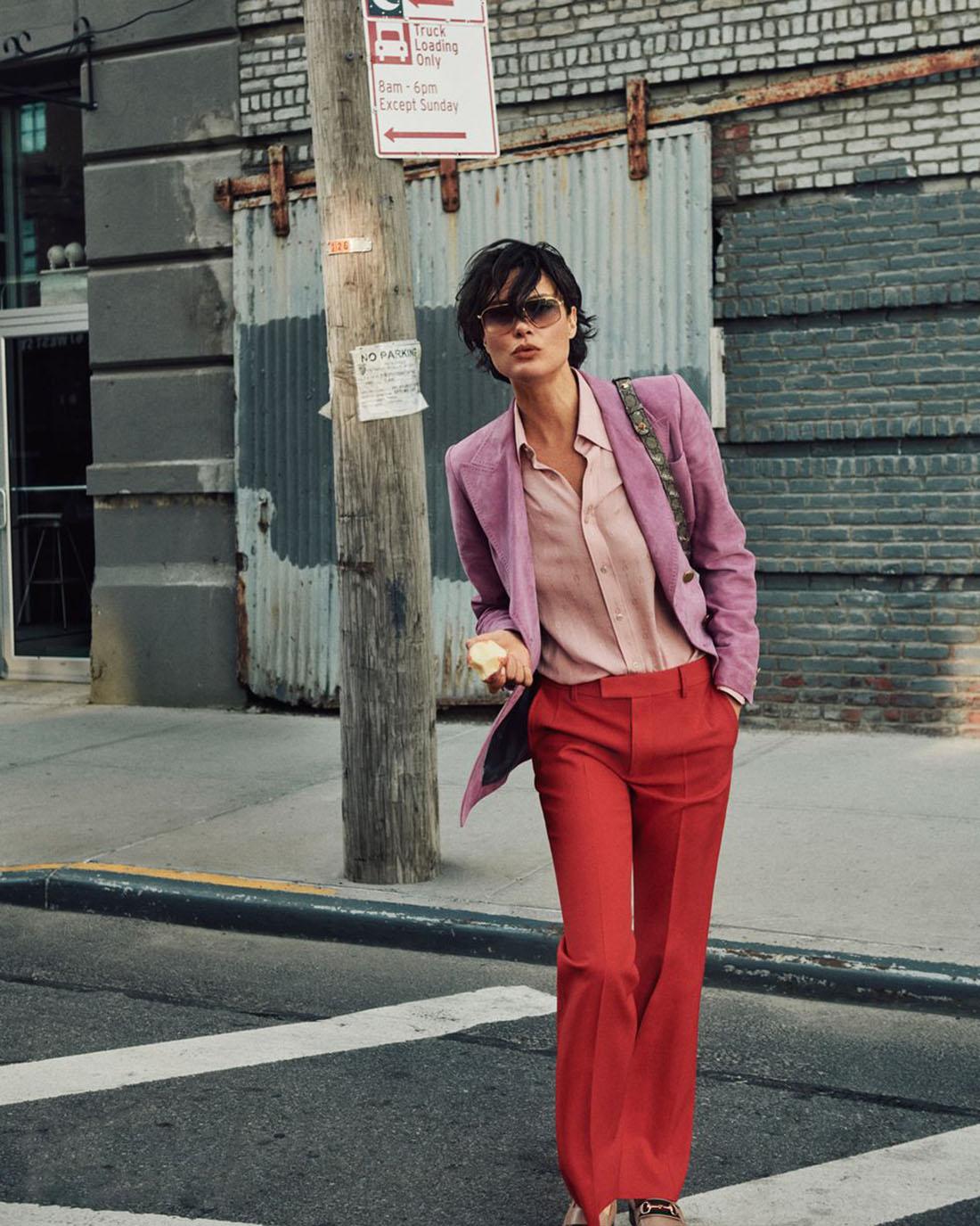 Shalom Harlow by Cass Bird for Harper's Bazaar US September 2021