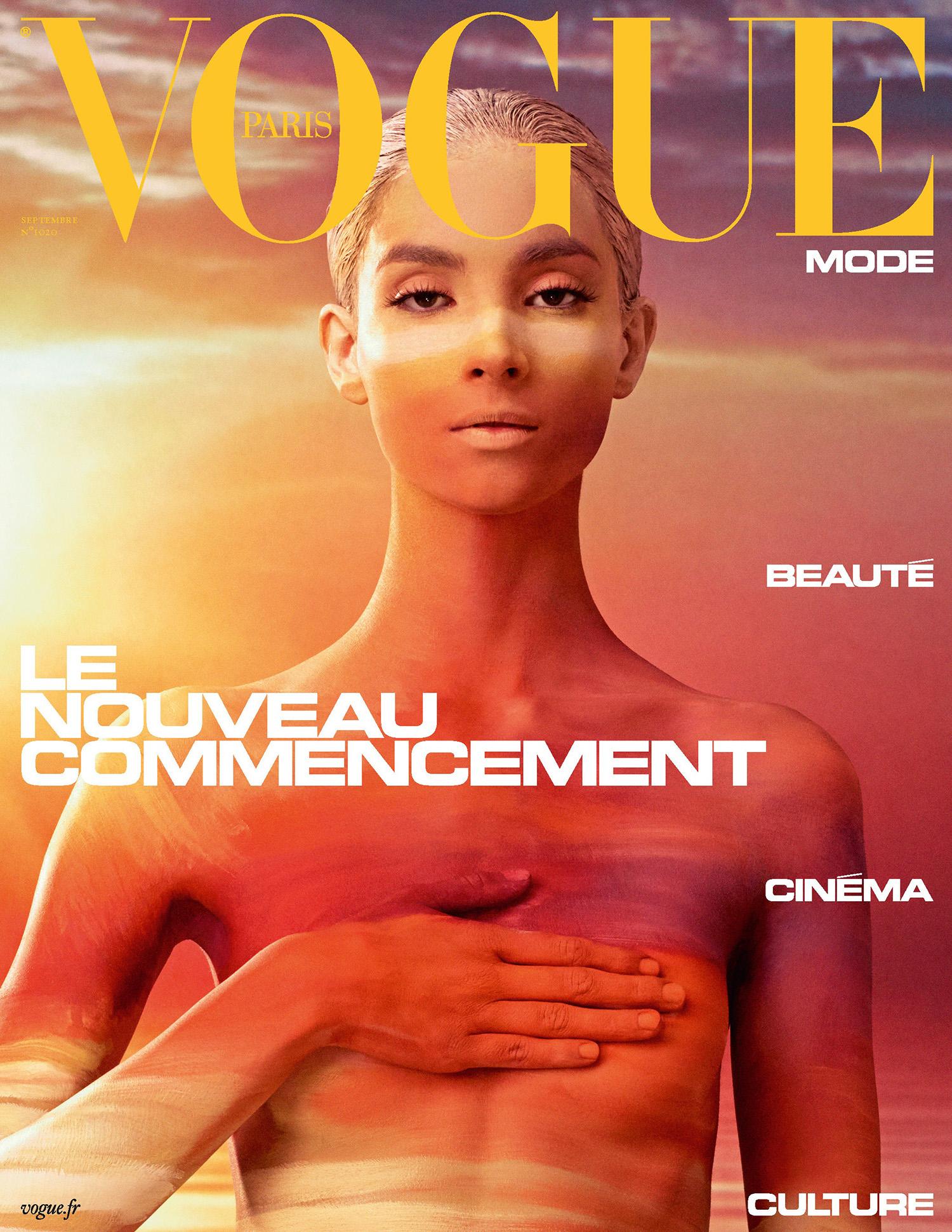 Tindi Mar covers Vogue Paris September 2021 by Mikael Jansson