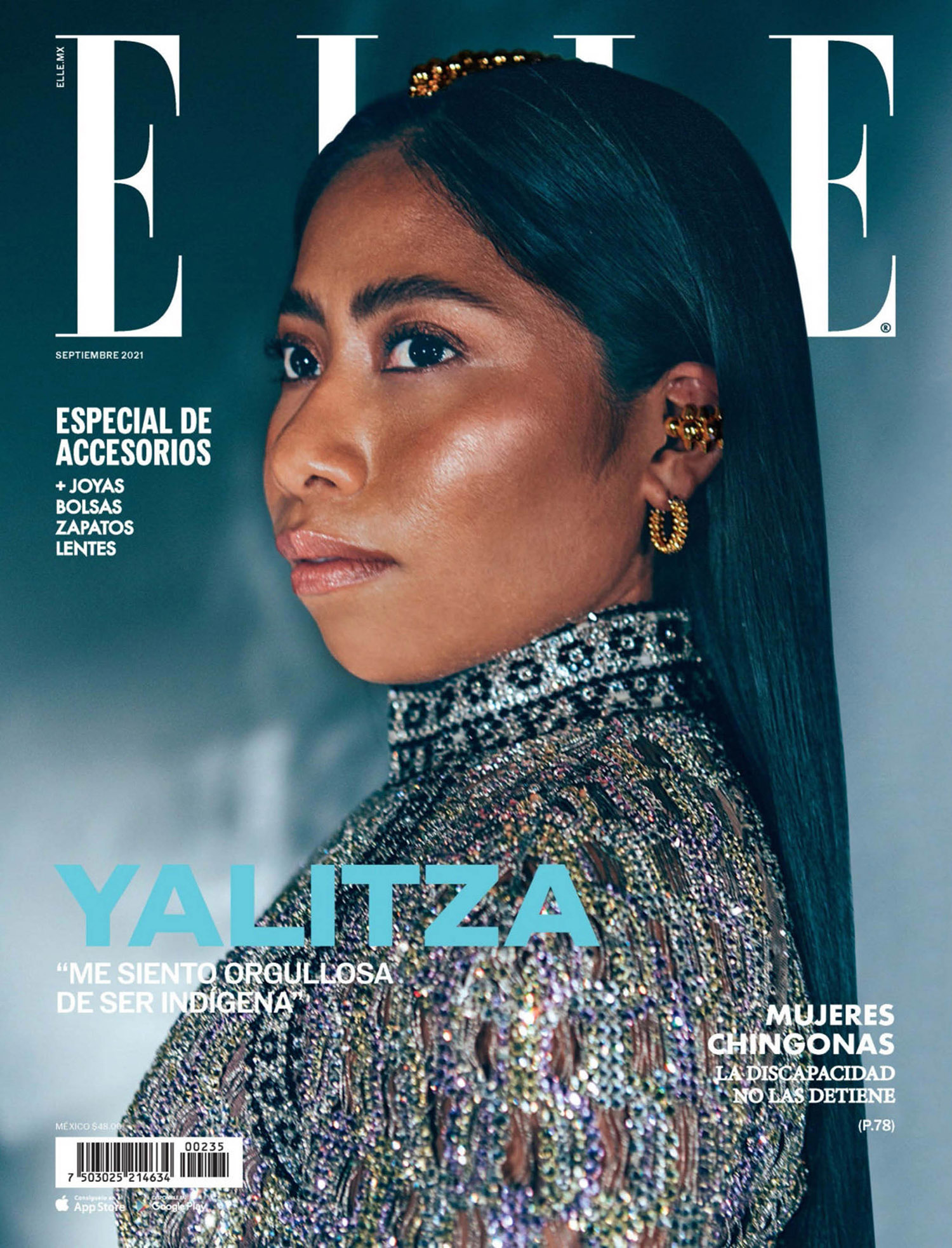 Yalitza Aparicio covers Elle Mexico September 2021 by Ximena Morfín