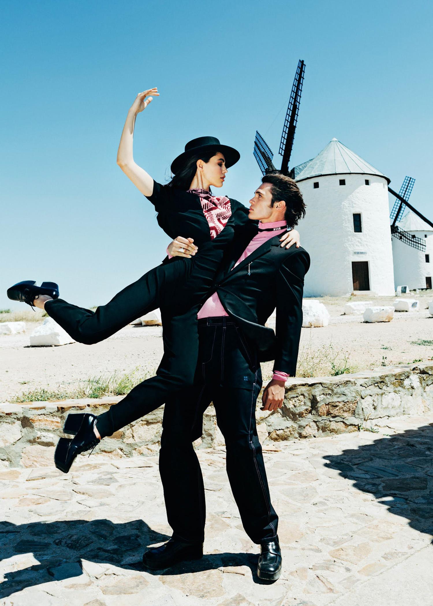 Ainhoa Larretxi and Adrian Sanchez by Ana Abril for Elle Croatia October 2021