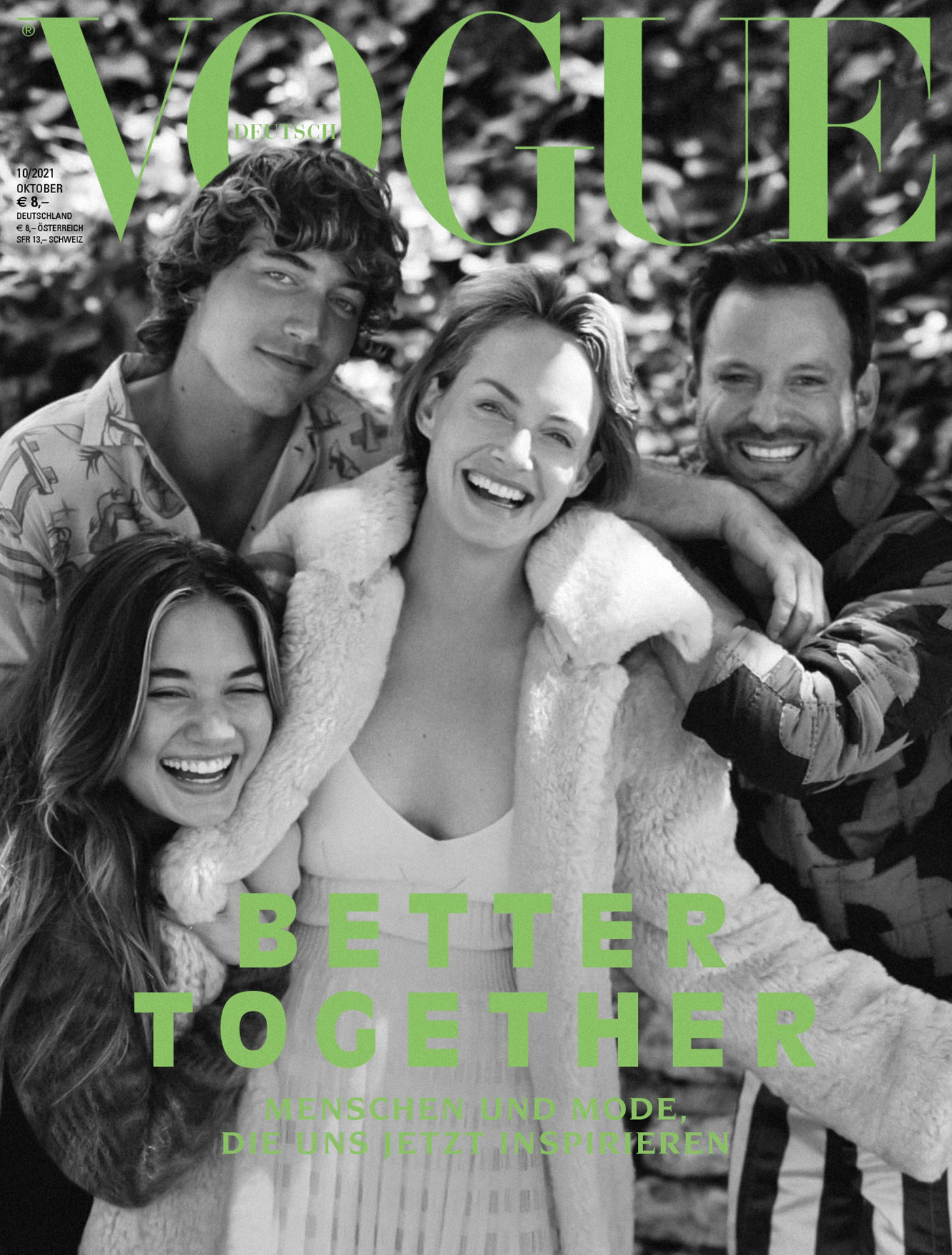 Amber Valletta and her family cover Vogue Germany October 2021 by Sean Thomas