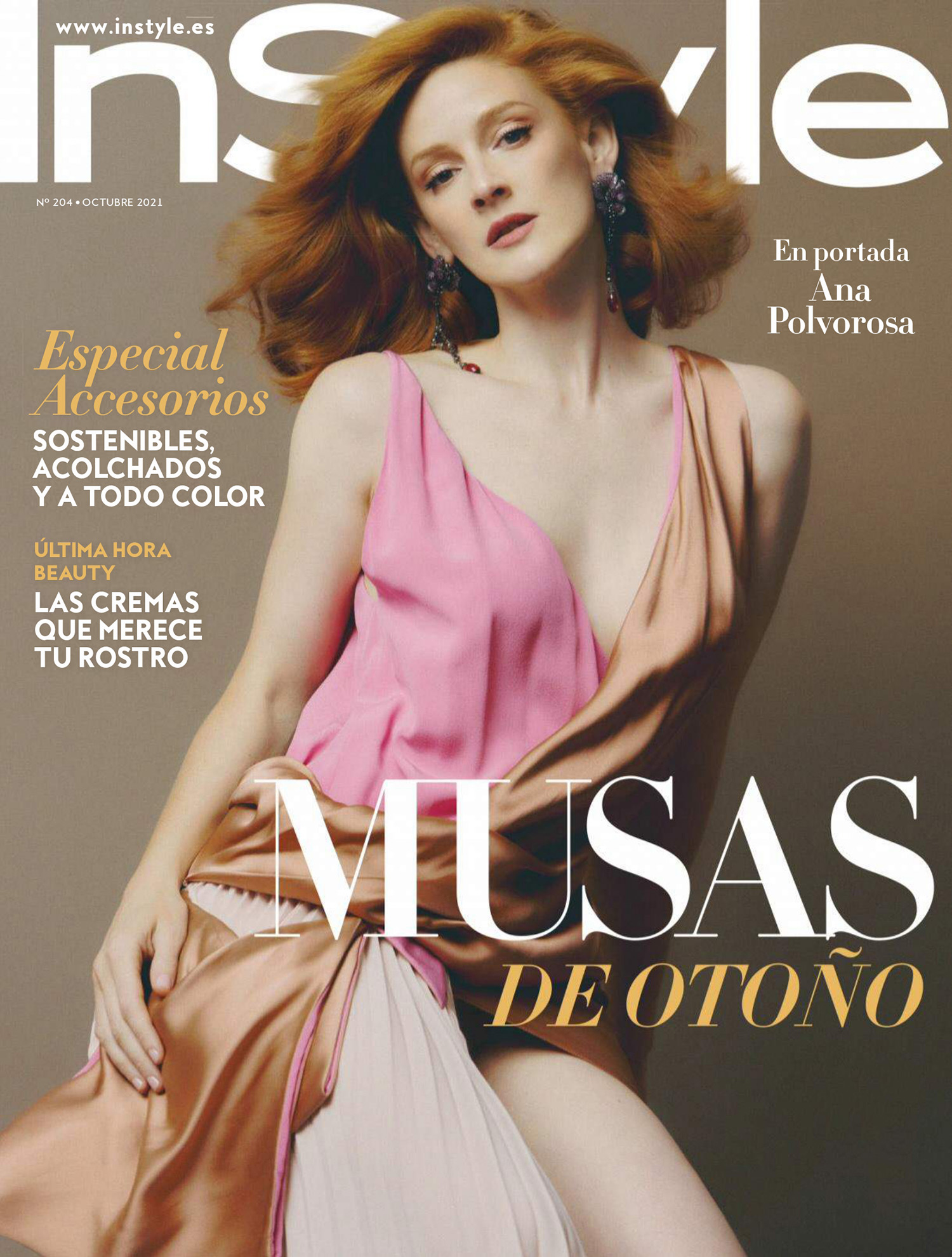 Ana Polvorosa covers InStyle Spain October 2021 by Javier Biosca