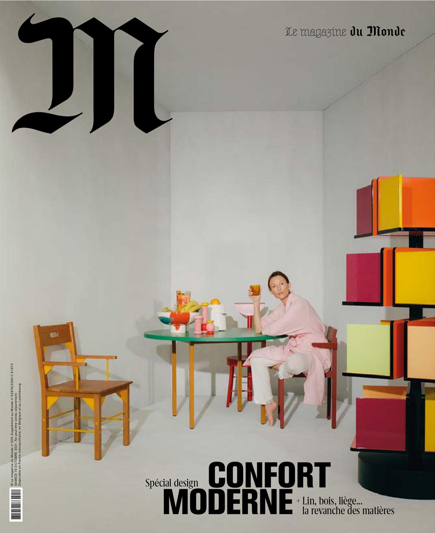 Audrey Marnay covers M Le magazine du Monde October 16th, 2021 by Julien T. Hamon