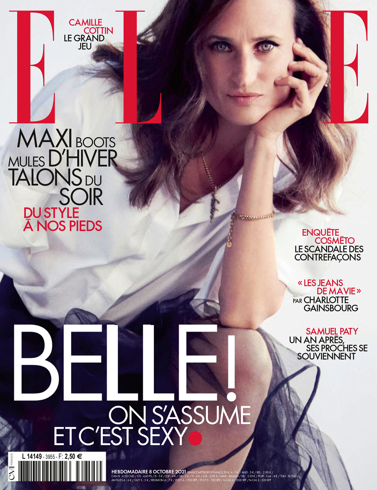 Camille Cottin covers Elle France October 8th, 2021 by Matthew Brookes