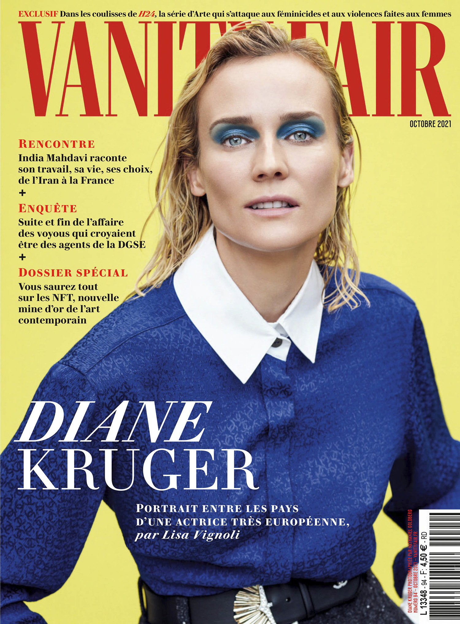 Diane Kruger covers Vanity Fair France October 2021 by Nathaniel Goldberg