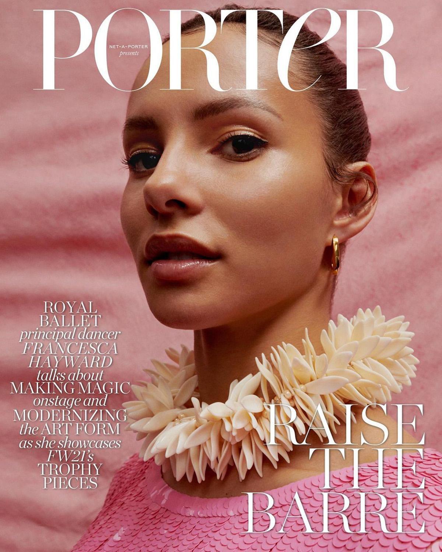Francesca Hayward covers Porter Magazine October 18th, 2021 by Ekua King