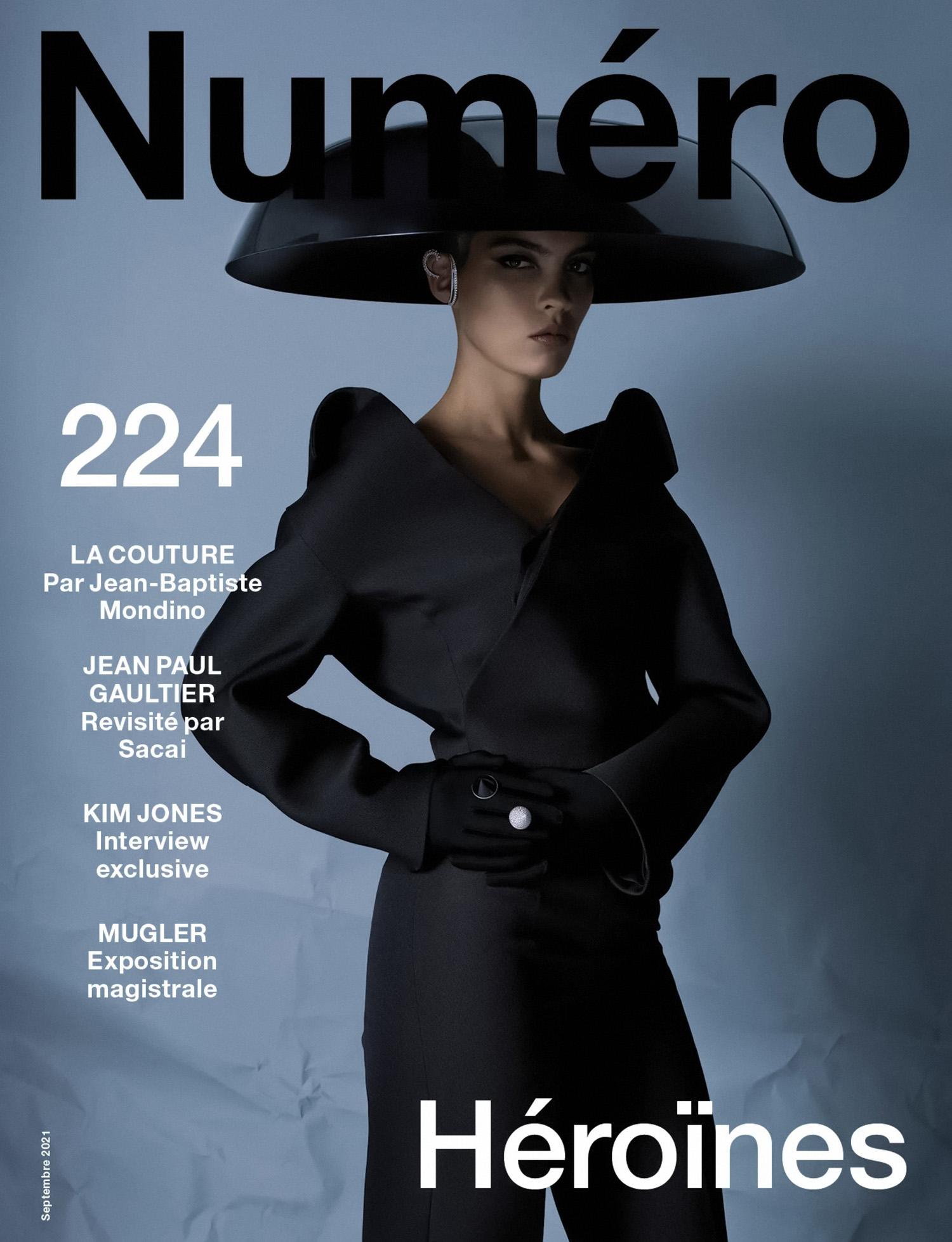 June Cornelissens and Akon Changkou cover Numéro September 2021 by Jean-Baptiste Mondino