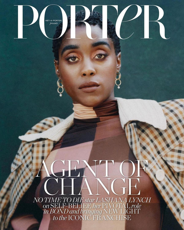 Lashana Lynch covers Porter Magazine October 4th, 2021 by Kennedi Carter