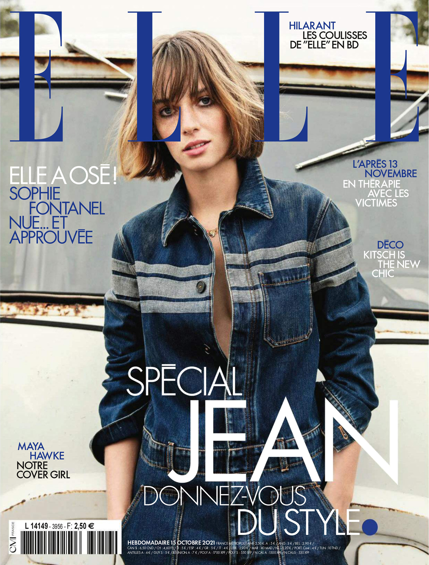 Maya Hawke covers Elle France October 15th, 2021 by Claudia Knoepfel