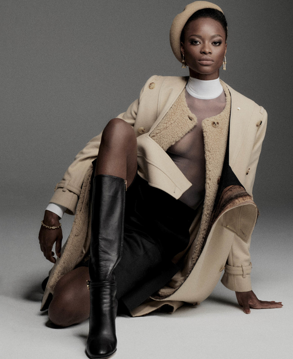 Mayowa Nicholas by Chris Colls for Elle US September 2021
