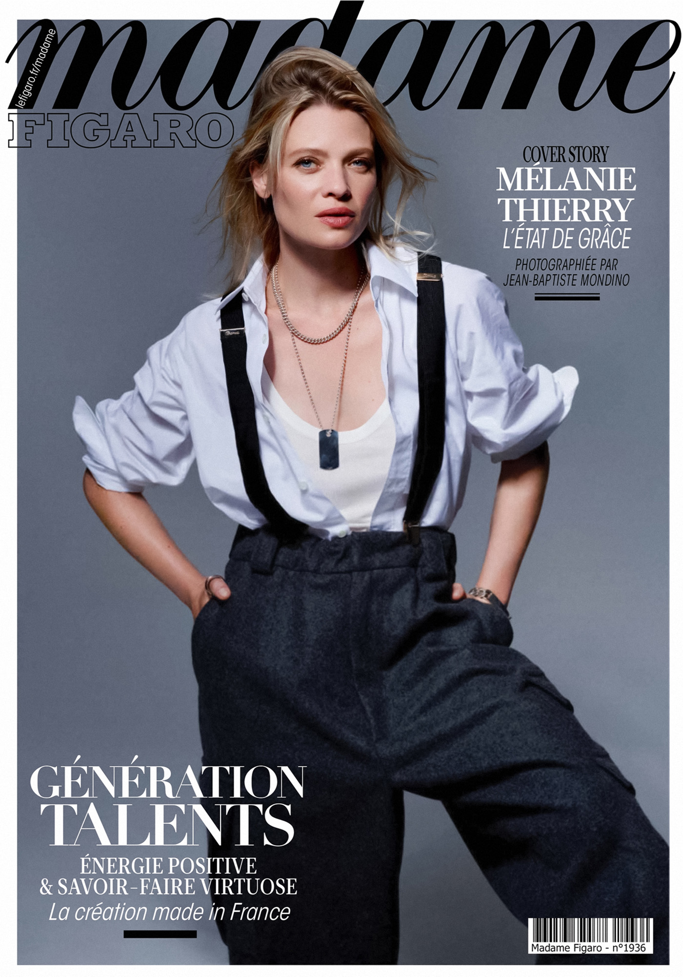 Mélanie Thierry covers Madame Figaro October 1st, 2021 by Jean-Baptiste Mondino