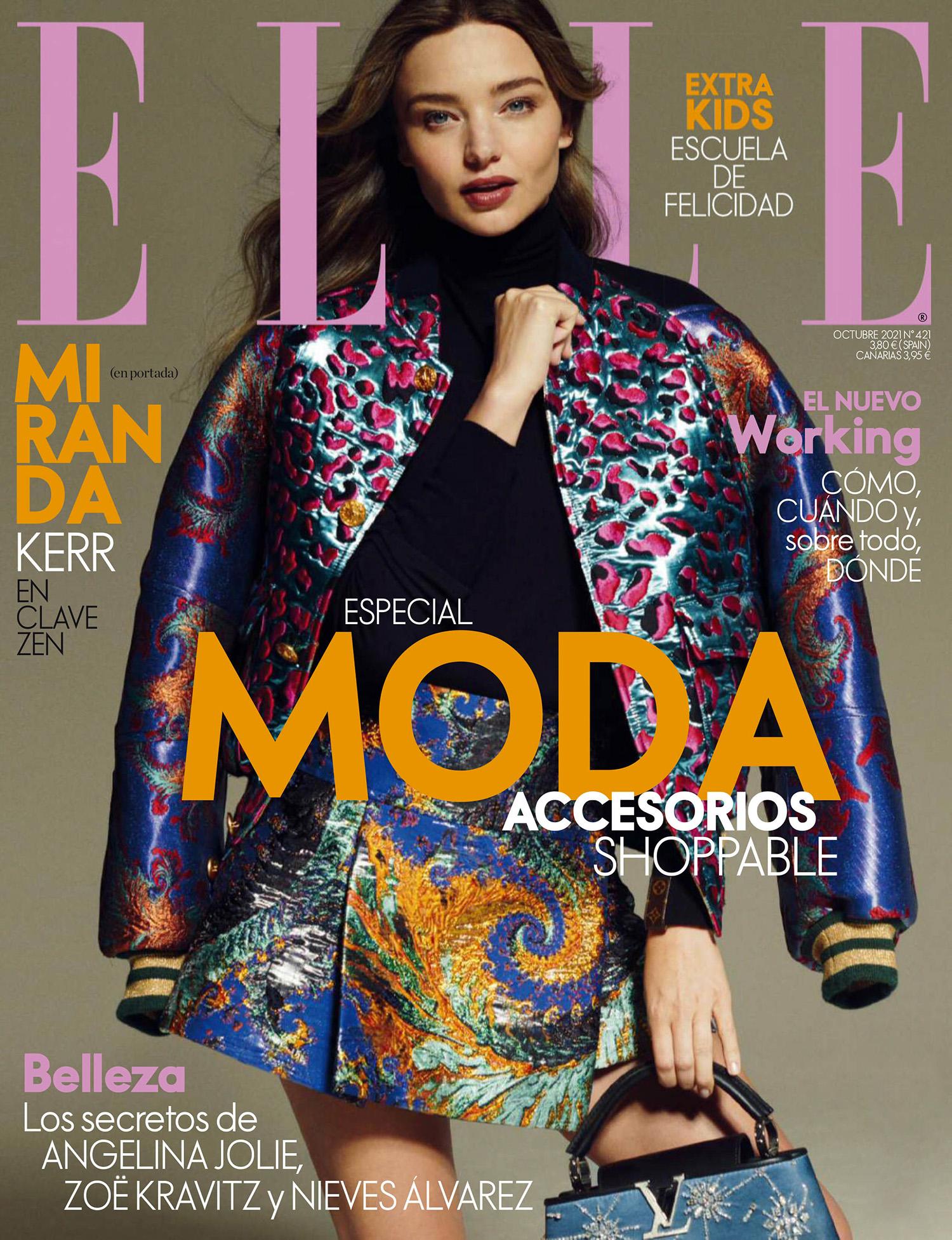 Miranda Kerr covers Elle Spain October 2021 by Philip Gay