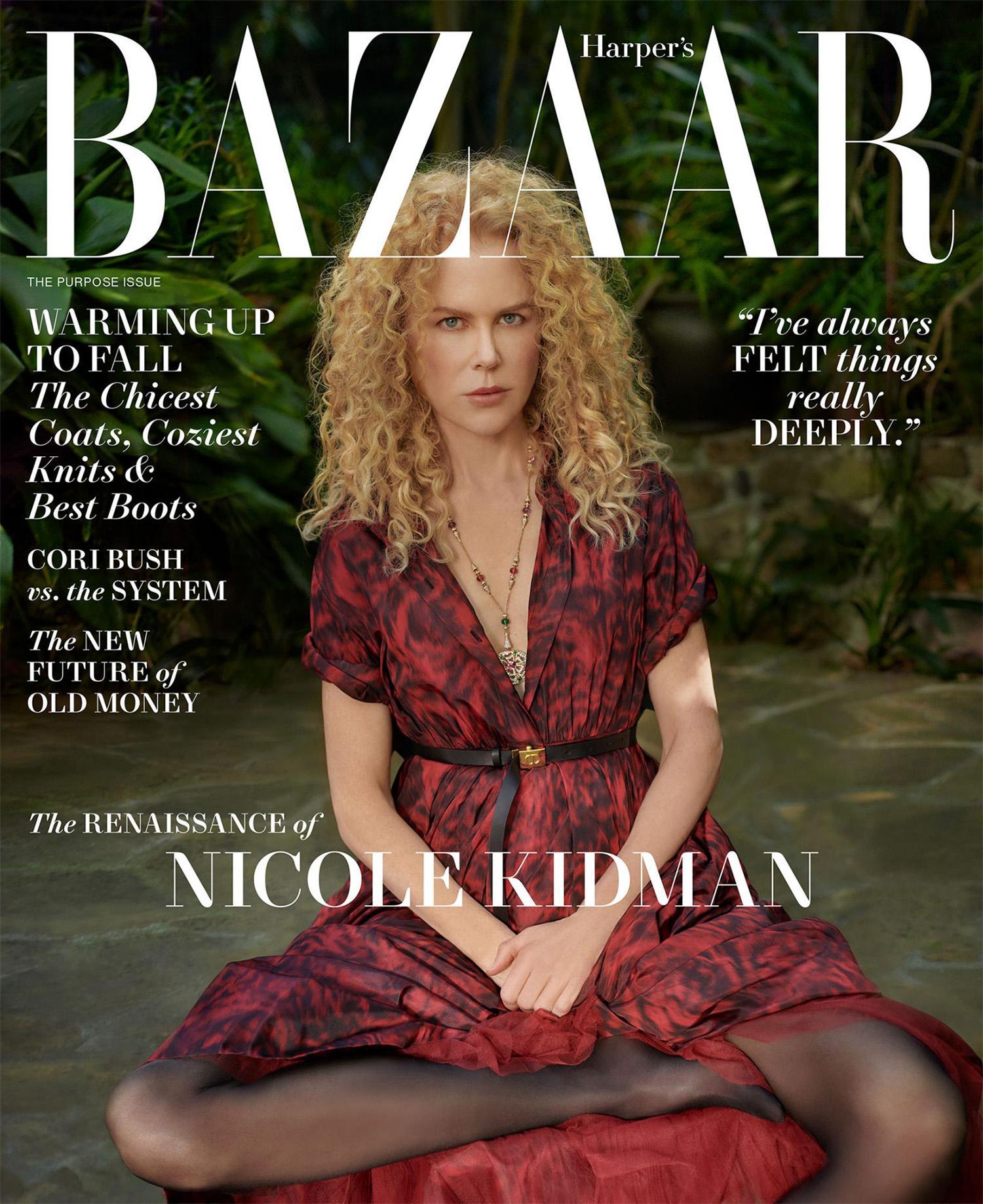 Nicole Kidman covers Harper's Bazaar US October 2021 by Collier Schorr