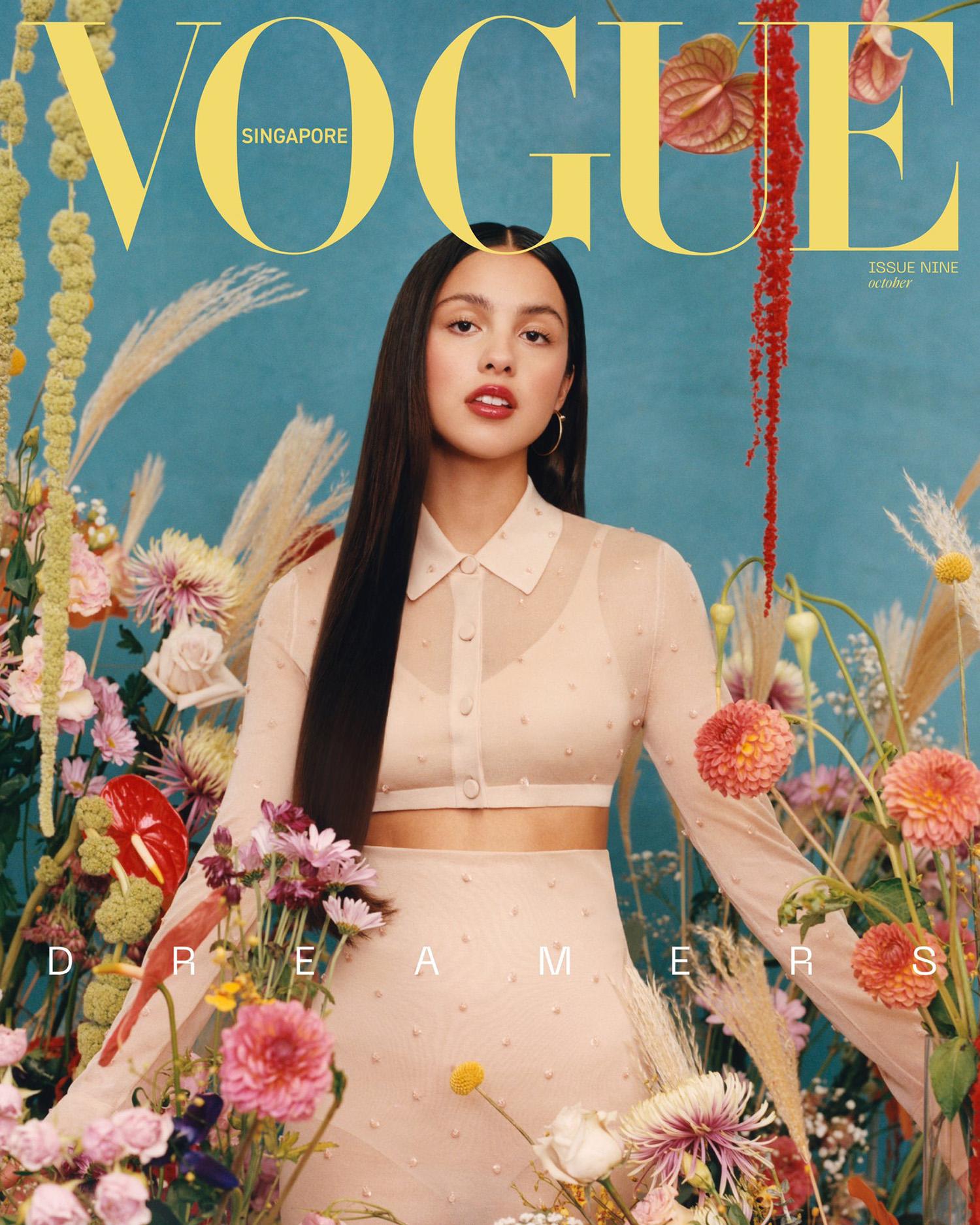 Olivia Rodrigo covers Vogue Singapore October 2021 by Peter Ash Lee