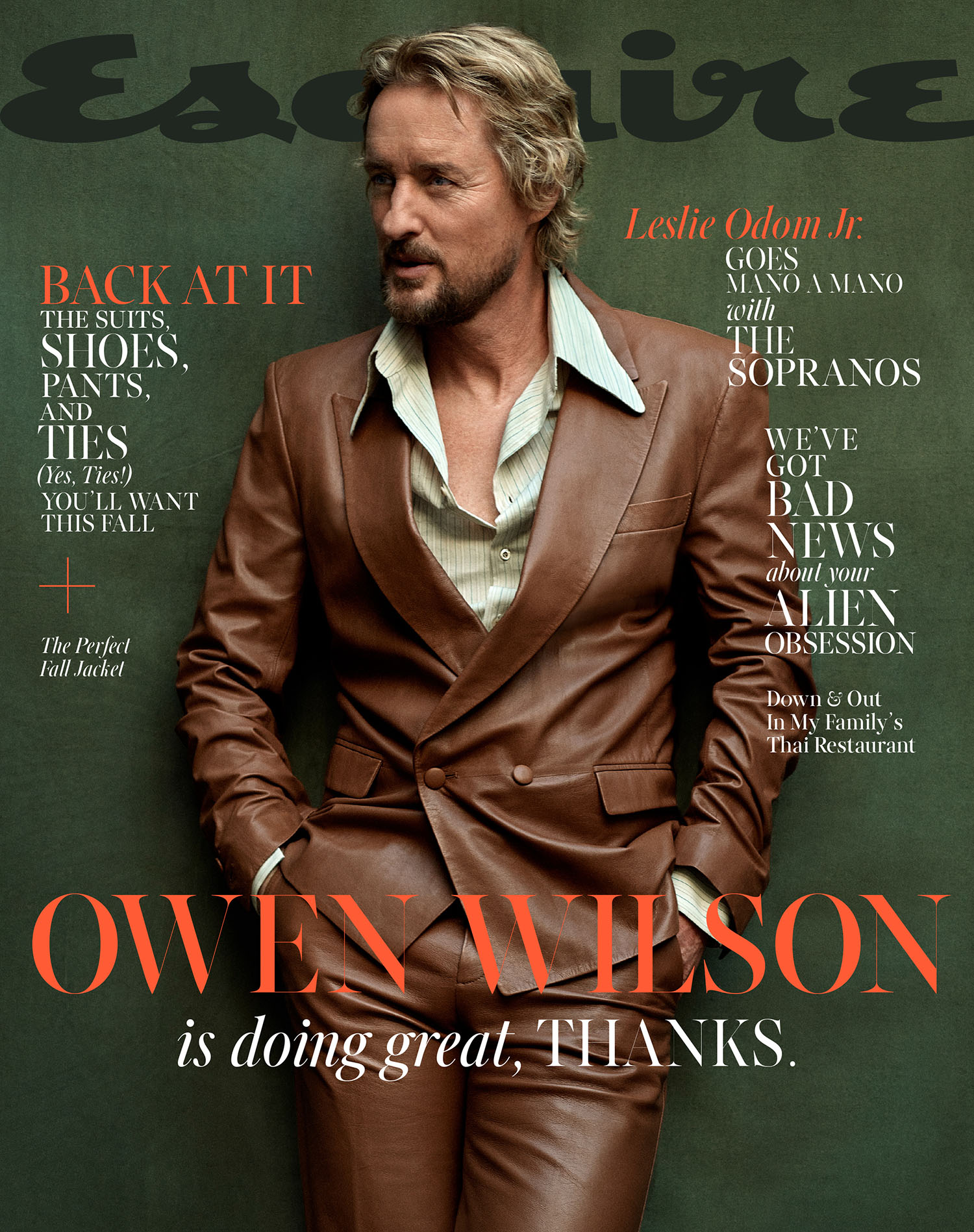 Owen Wilson covers Esquire US September 2021 by Mark Seliger