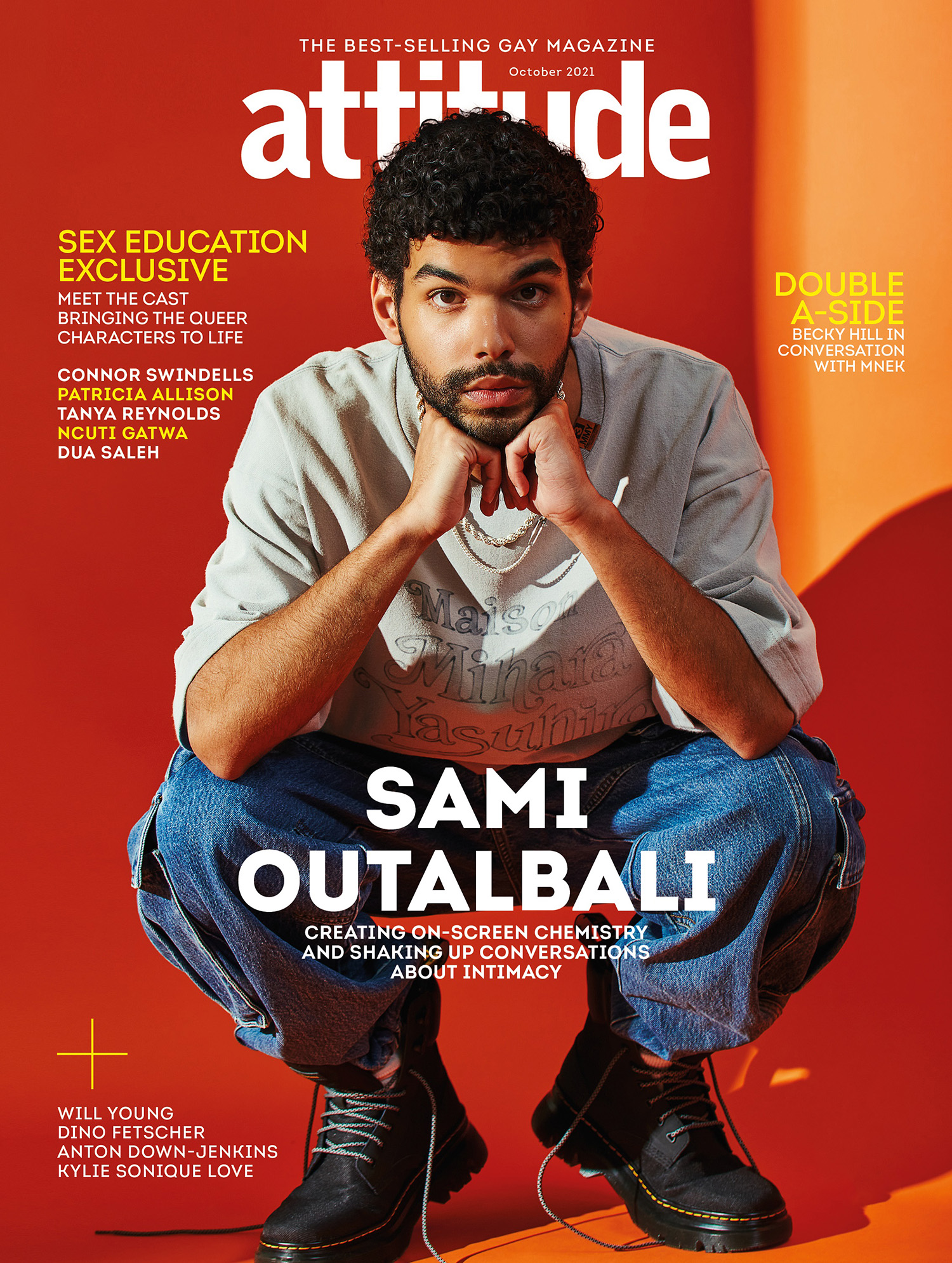Sami Outalbali covers Attitude Magazine October 2021 by Dean Ryan McDaid