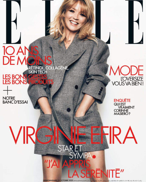 Virginie Efira covers Elle France October 22nd, 2021 by Jan Welters