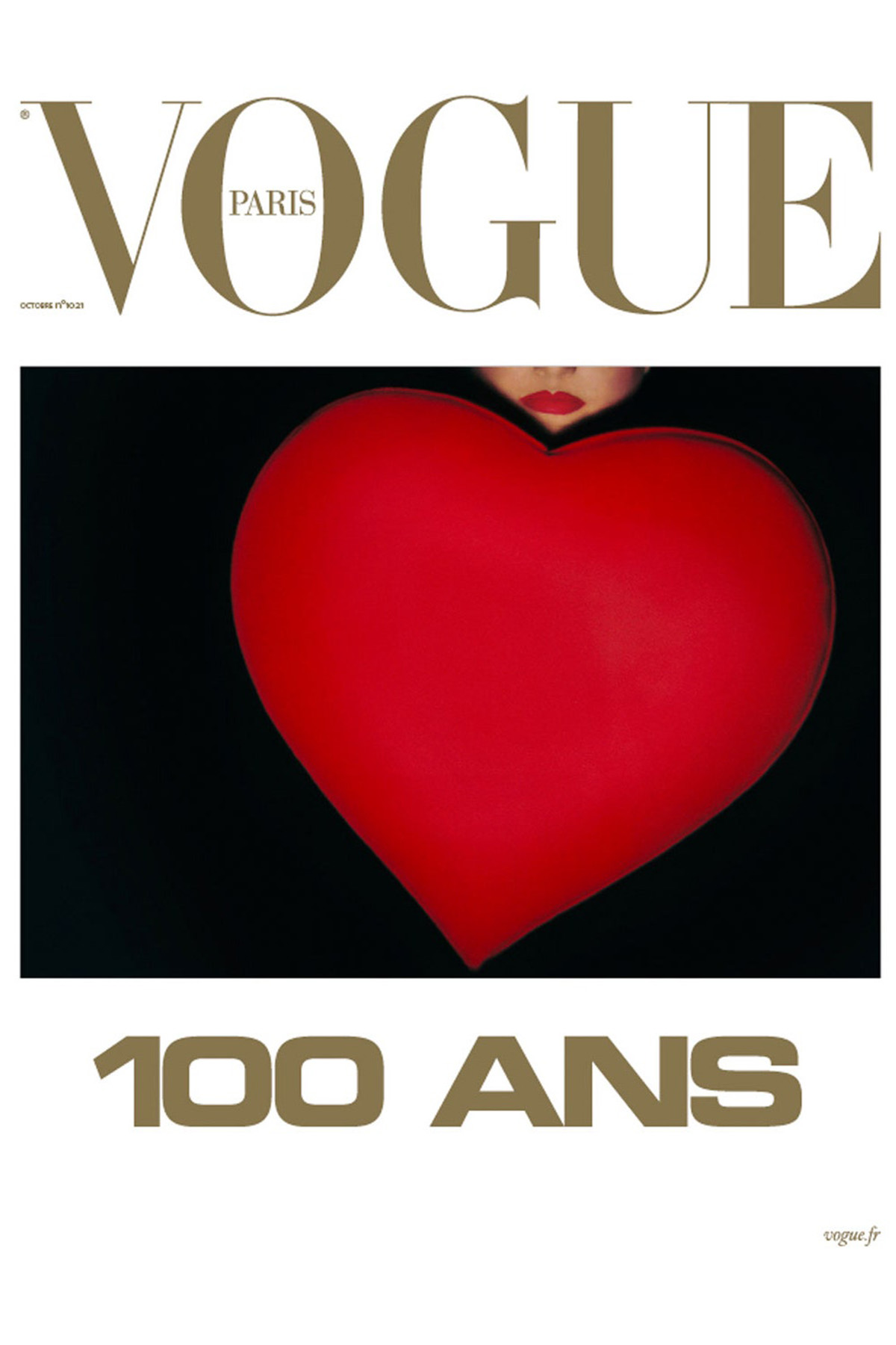 Vogue Paris October 2021 cover by Guy Bourdin
