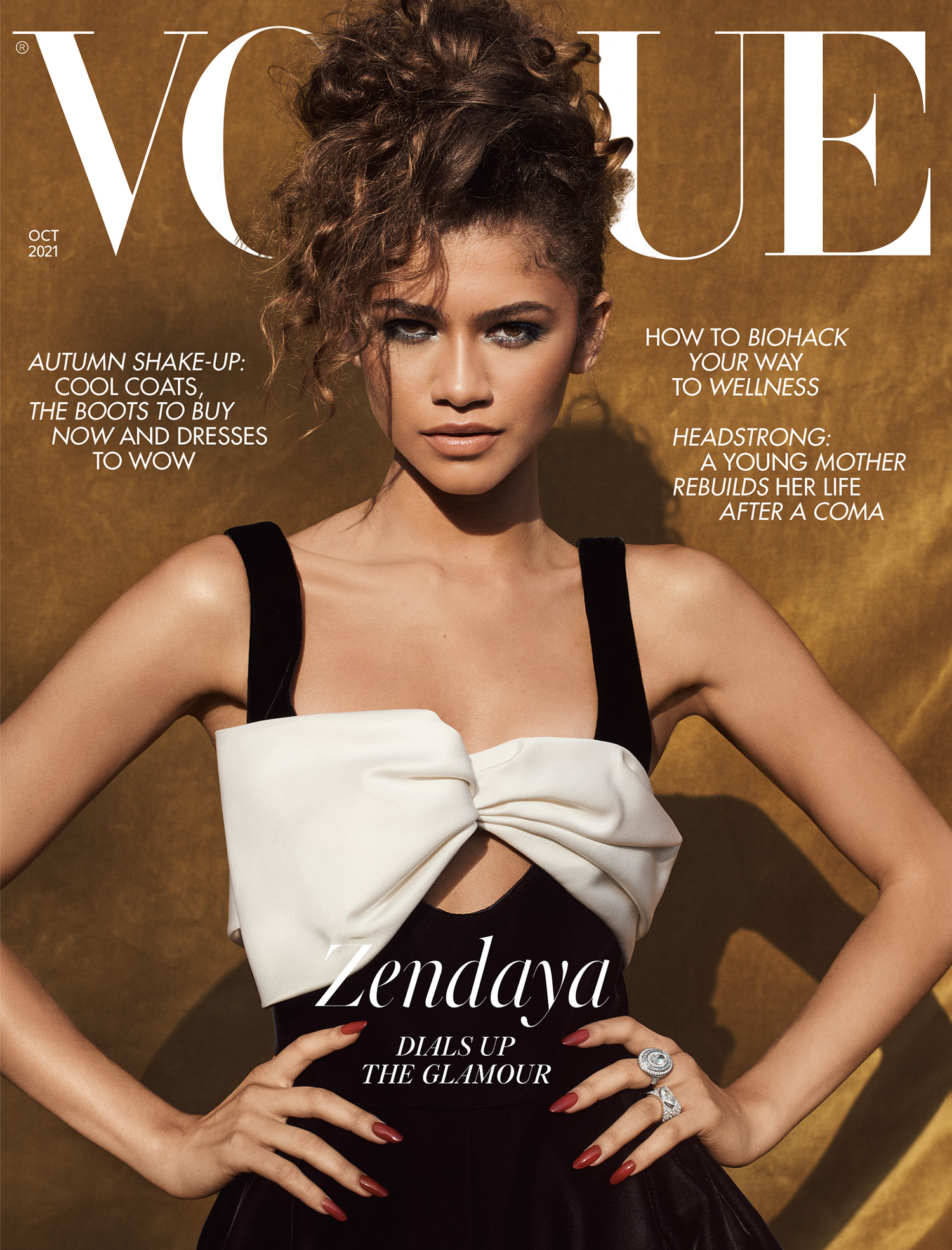 Zendaya covers British Vogue October 2021 by Craig McDean